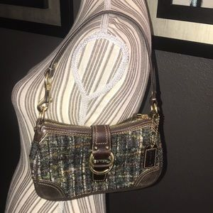 Coach, Wool & Leather Purse STUNNING condition